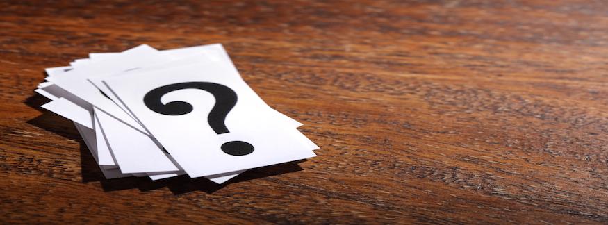 Fragetecken hemligt