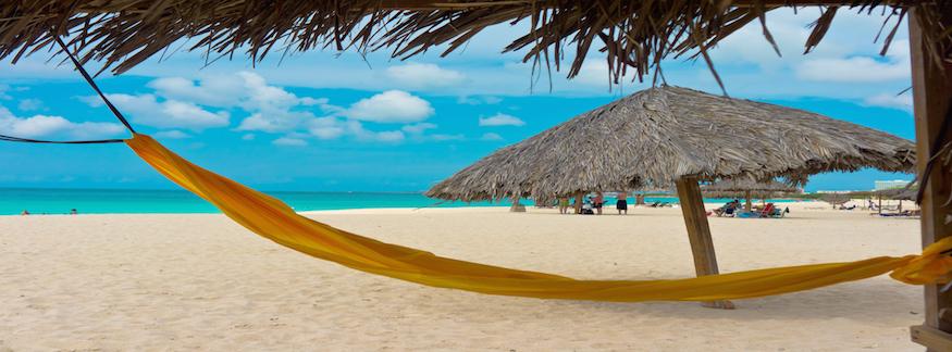 Hangmatta strand Karibien