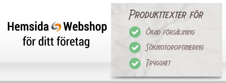 Skriv Google-anpassade produkttexter i din webshop