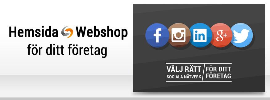 Välj rätt sociala medier för ditt ditt företag