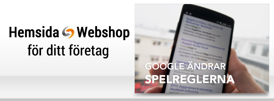 Mobilanpassad webbplats är ett krav från Google