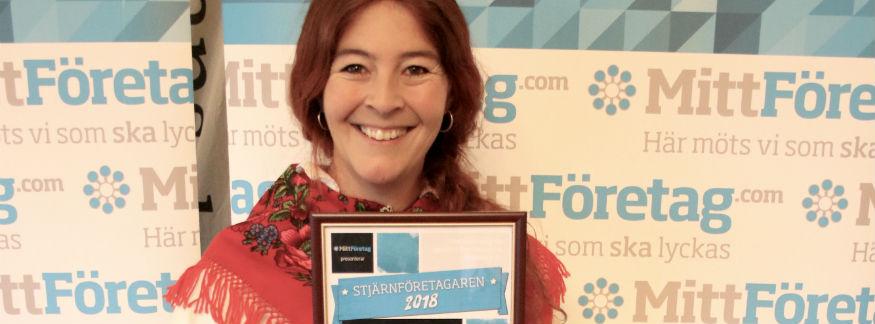 Sonia Bush på Wålstedts Textilverkstad blev Stjärnföretagaren 2018 i Dalarna