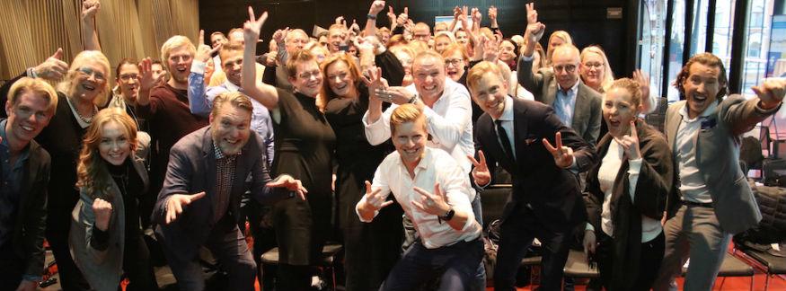 Mingelbilder från Världens bästa företag 2023 i Uppsala