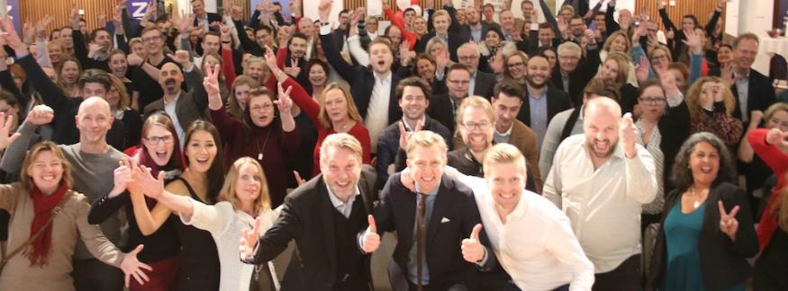 Mingelbilder från Världens bästa företag 2023 i Stockholm