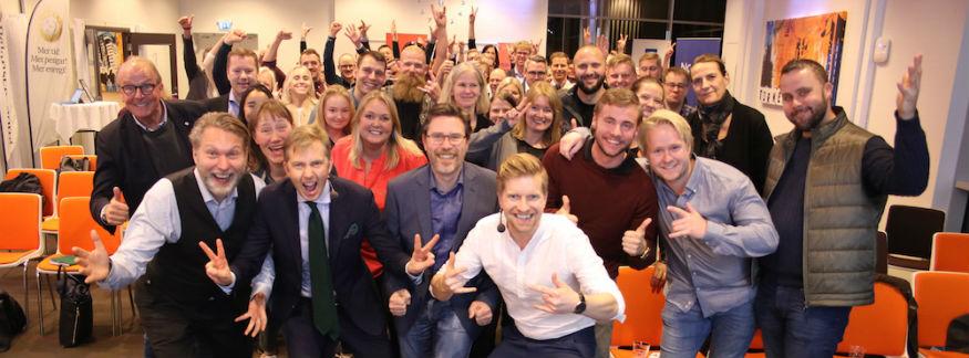 Mingelbilder från Världens bästa företag 2023 i Östergötland