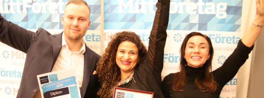 Johara Khattab på Teach4Life blev Stjärnföretagaren 2018 i norra Stockholm