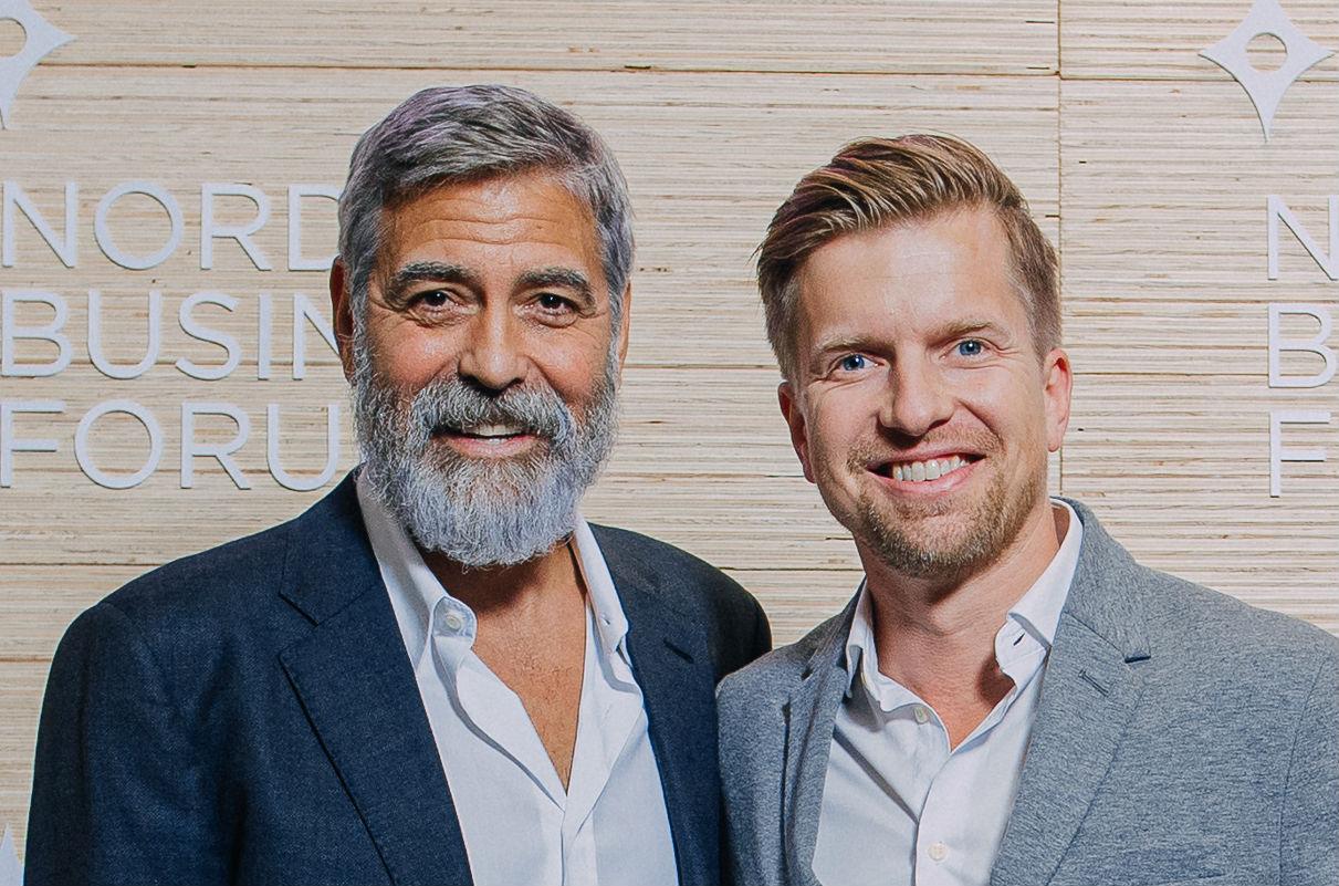 George Clooney och Gustaf Oscarson