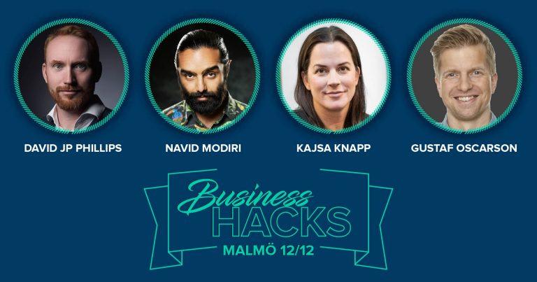 Mingelbilder från Business Hacks i Malmö