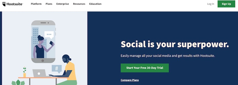 Automatisera sociala medier med HootSuite